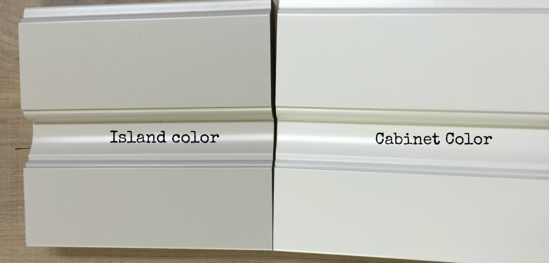 Paint samples for  cabinets