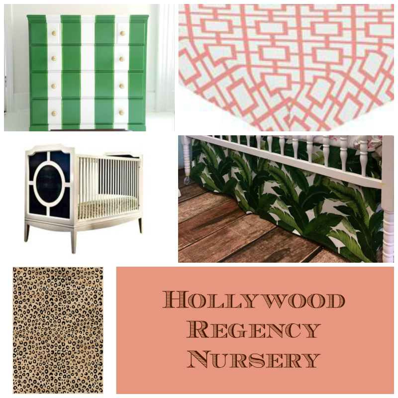 Hollywood  Regency  Crib