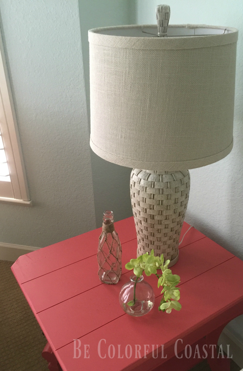 Coastal table with orchid