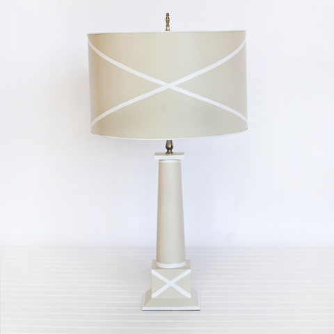 Worlds Away Tole Lamp W: X shade