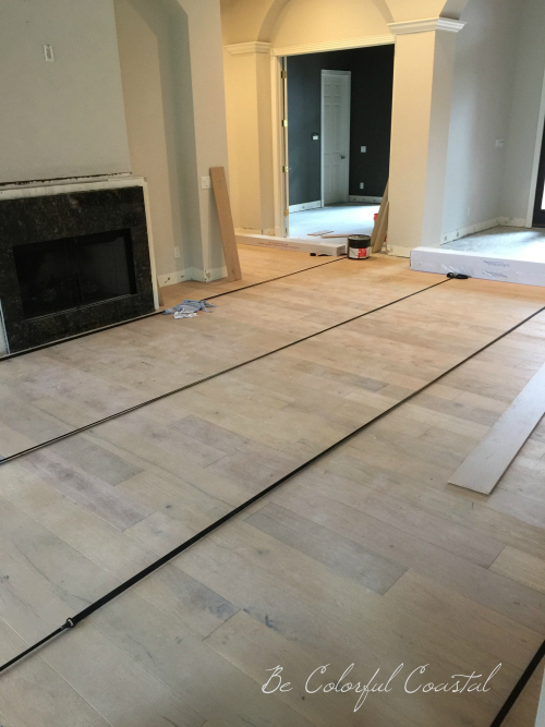 Floor instal in living room