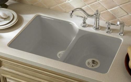Traditional-kitchen-sinks  Kohler in cashmere