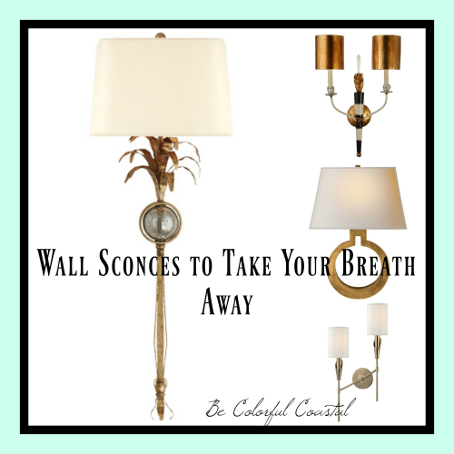 Aqua sconce collage