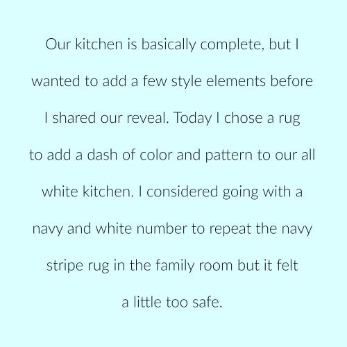 Kitchen rug p 1