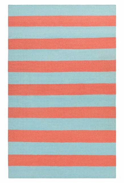 Hermes Flat Weave Rug, Coral