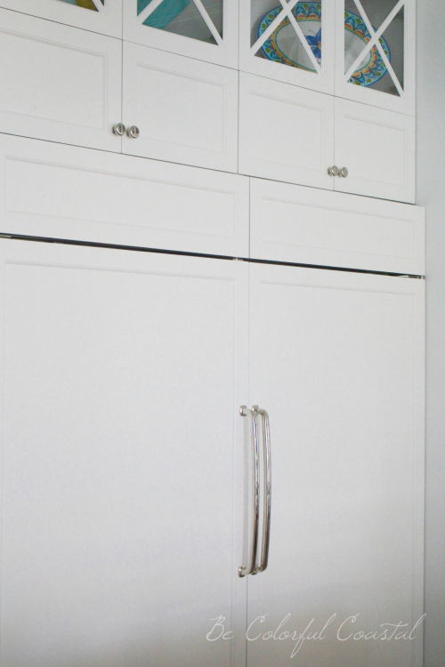 Sub zero refrigerator and freezer with white panel doors