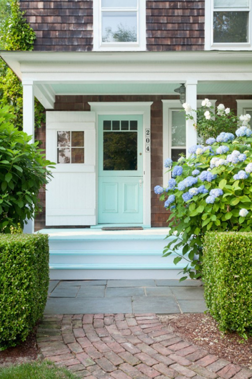 Aqua door and steps via Pinterest