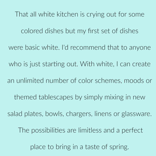 Spring update dishes