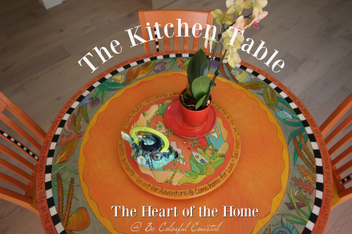 The kitchen table @Be Colorful Coastal