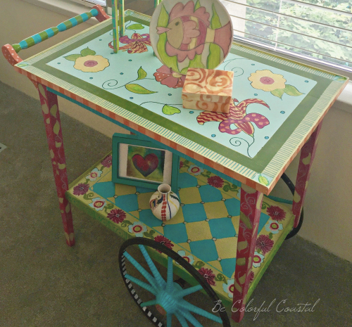 Sue's Accessorized Tea Cart