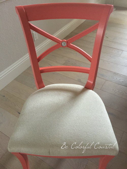 Dining chair in Ben Moore Fan Coral