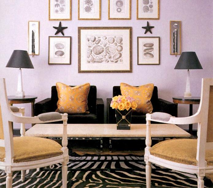 Lavender black and gold