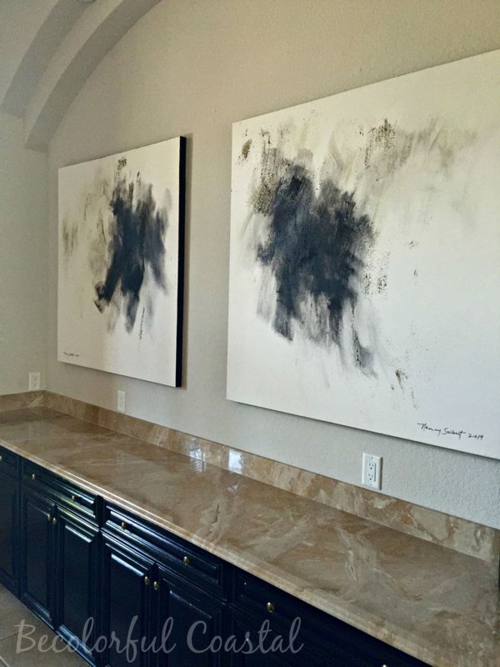 Dining room art work at angle