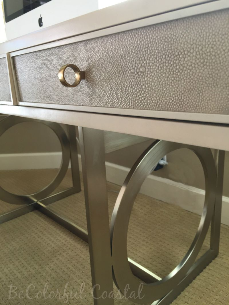 Close up of bernhardt desk