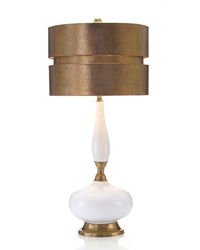 White lamp gold shade