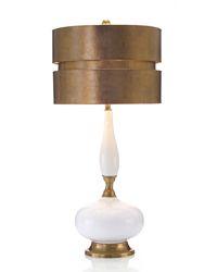 White lamp gold shade