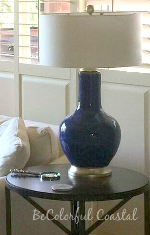 Cobalt Blue John Richards Table Lamp