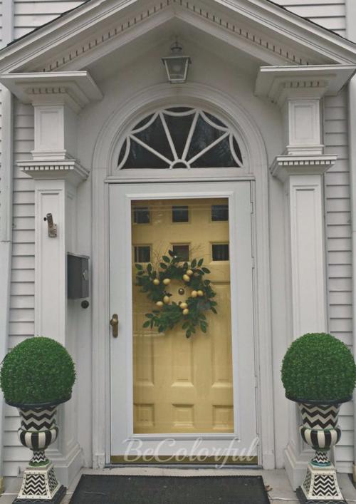 Front door faux 1