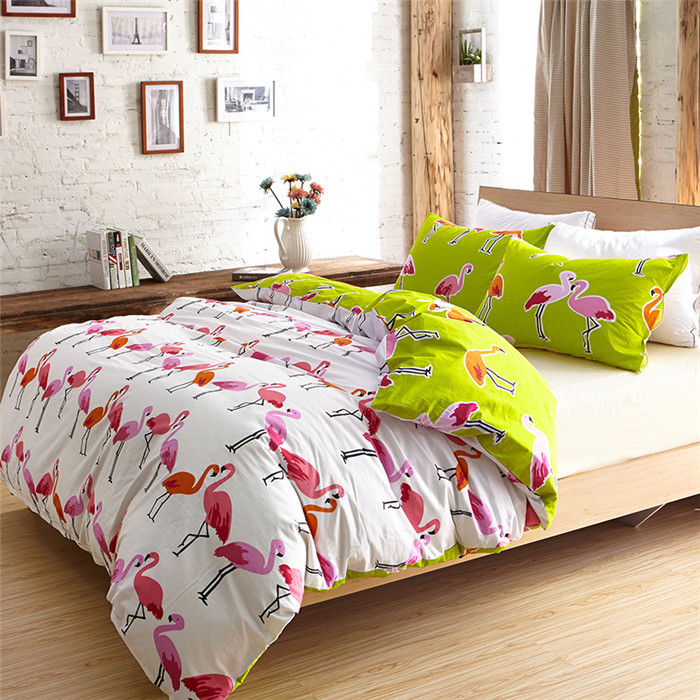 2016-Factory-Direct-Wholesale-Lencol-de-Cama-Casal-Set-of-Bed-Linen-Bohemian-Bedding-Flamingo-Duvet