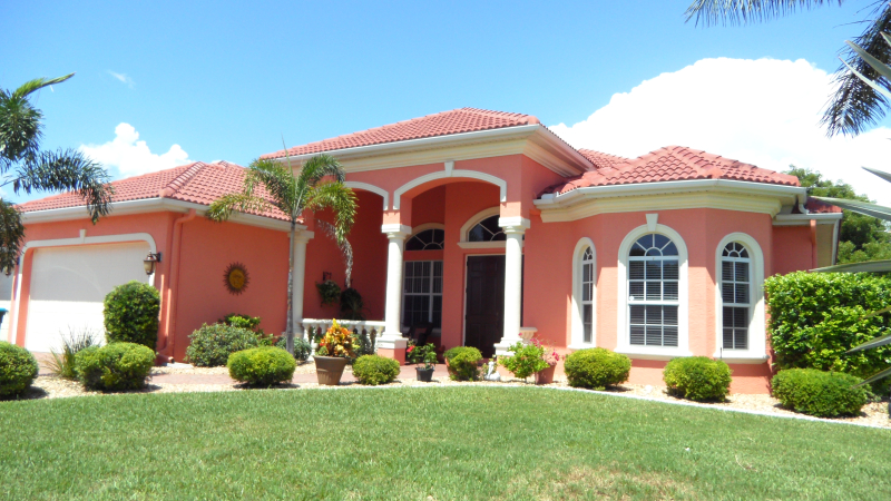 Cape Coral Exterior Home Painting after