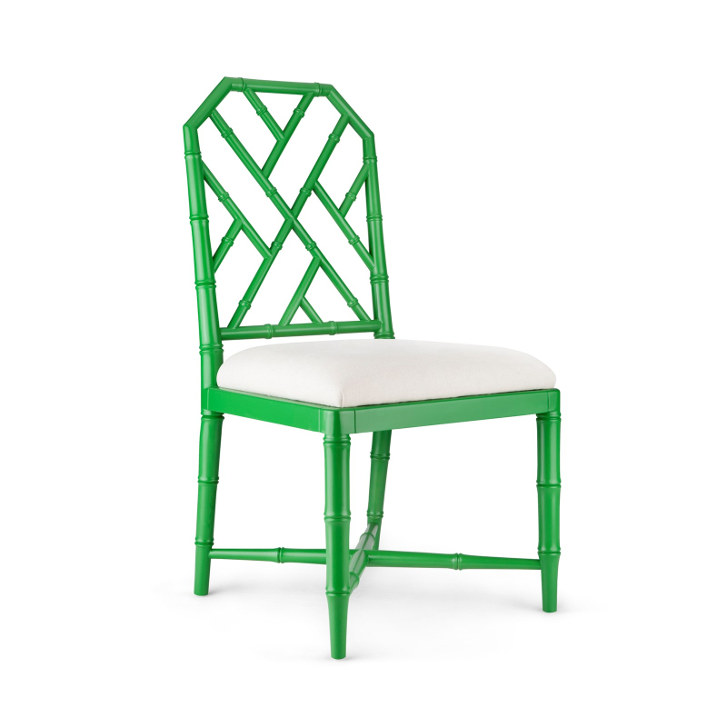 Jardin side chair in emerald green