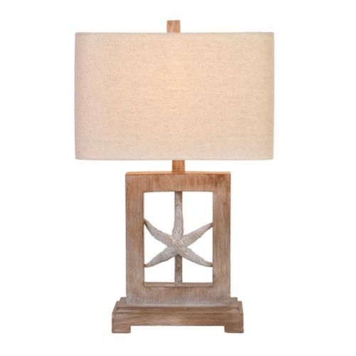Kirklands Framed Starfish Table Lamp 49