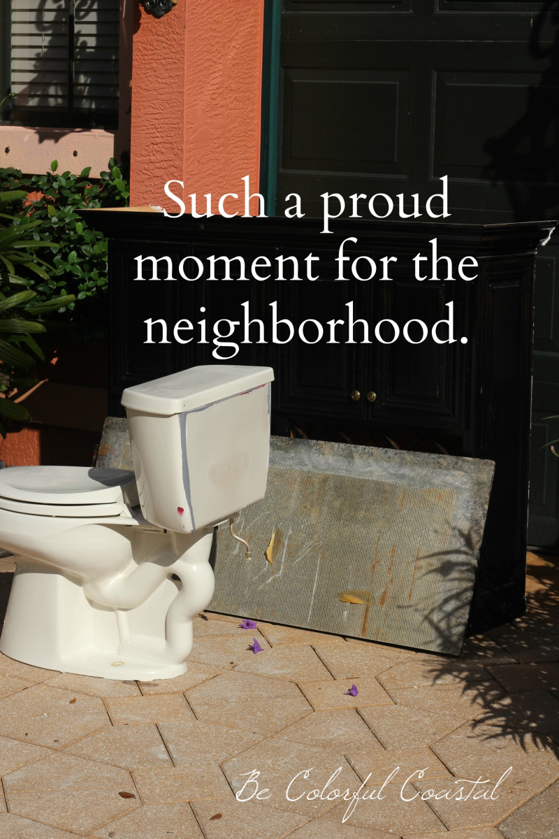 Toilet out front