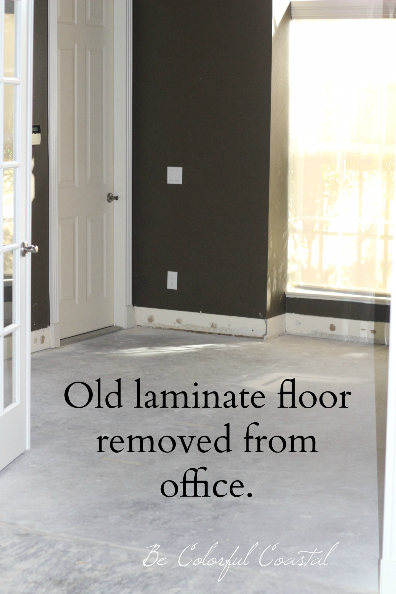 Laminate removed