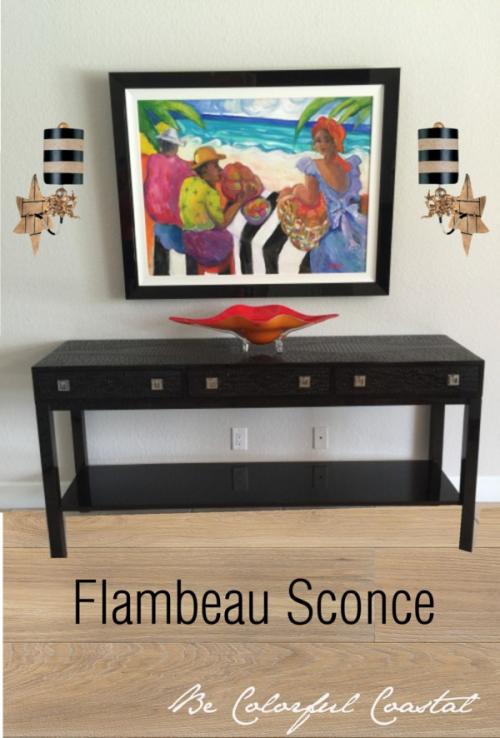 Flambeau sconce concept