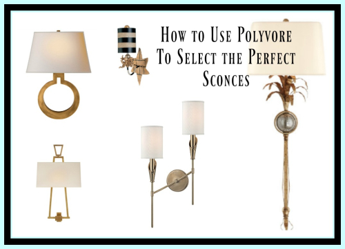 Polyvore sconce