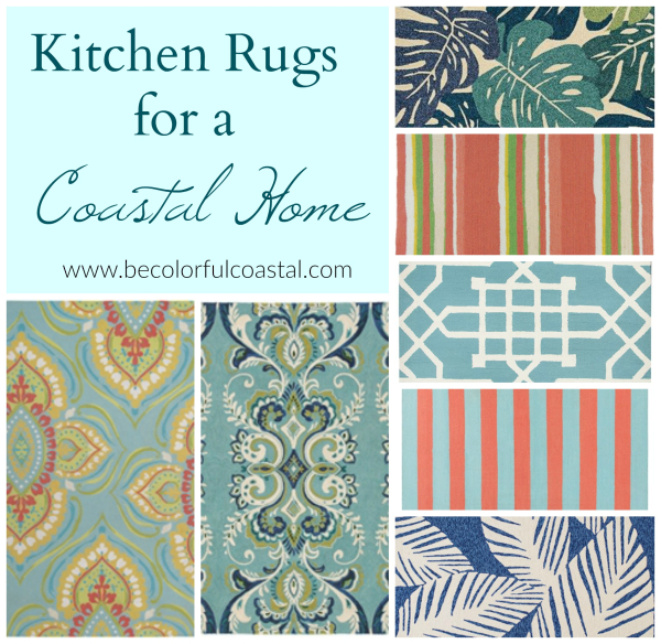 Be Colorful Coastal: Kitchen Rugs To Dial Up An All White