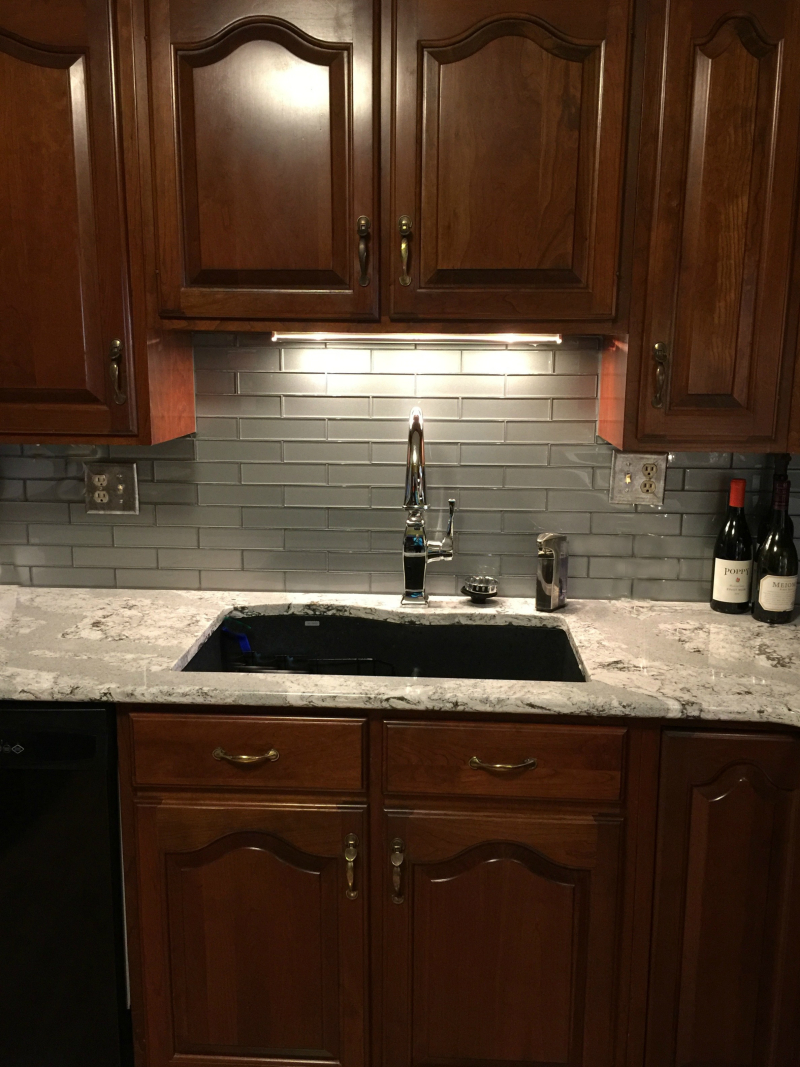 Mom's countertops, cabinets and sink