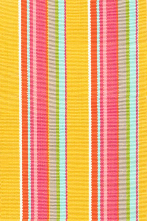 Happy Yellow Stripe Indoor:Outdoor rug Dash & Albert 2