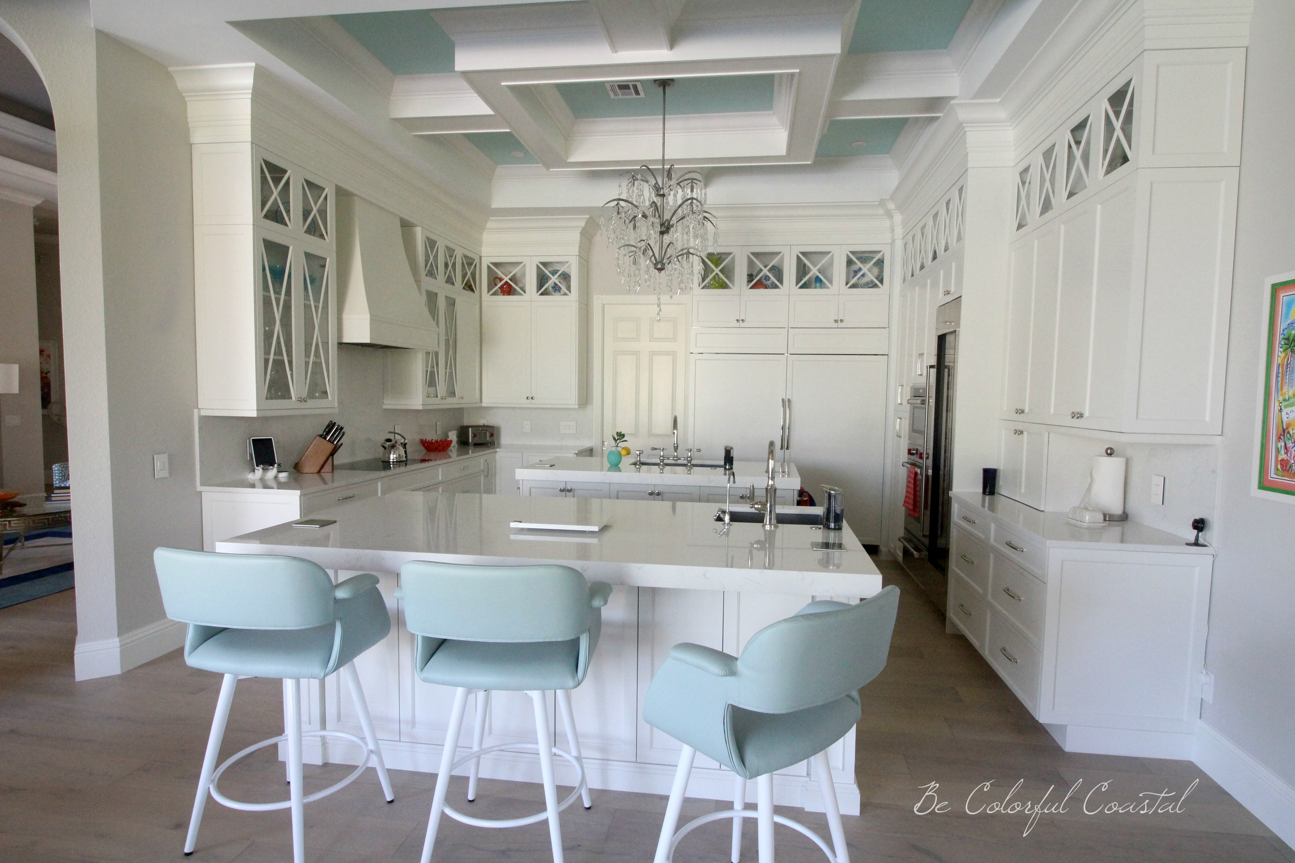 reputable site 54273 4efc3 Be Colorful Coastal: New Counter/Barstools For A Coastal Kitchen