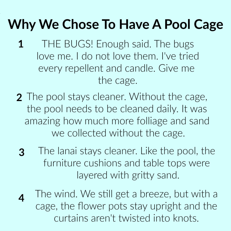 Why we chose to have a cage (1)