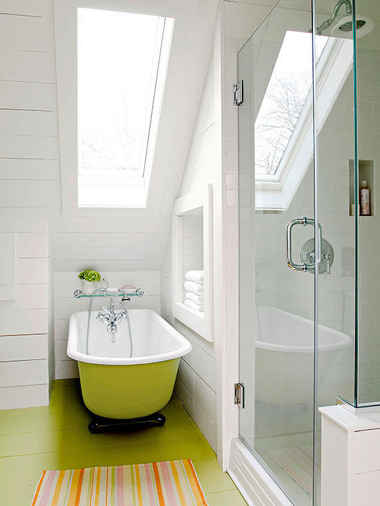 BHG.com smart stylish small bathroom designs