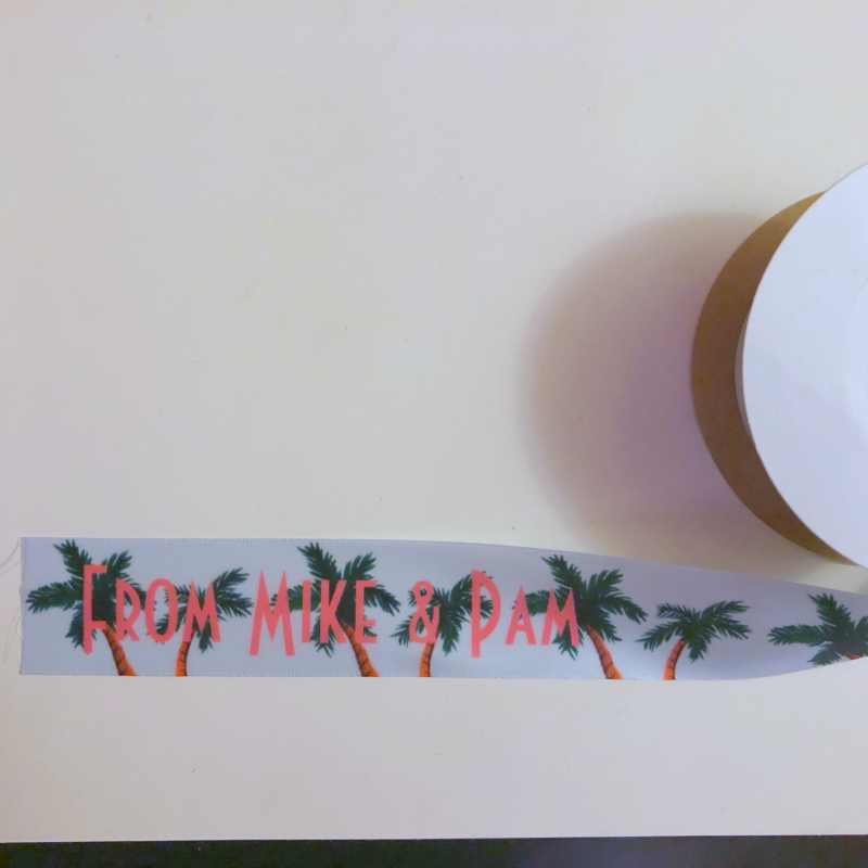 Palm tree ribbon