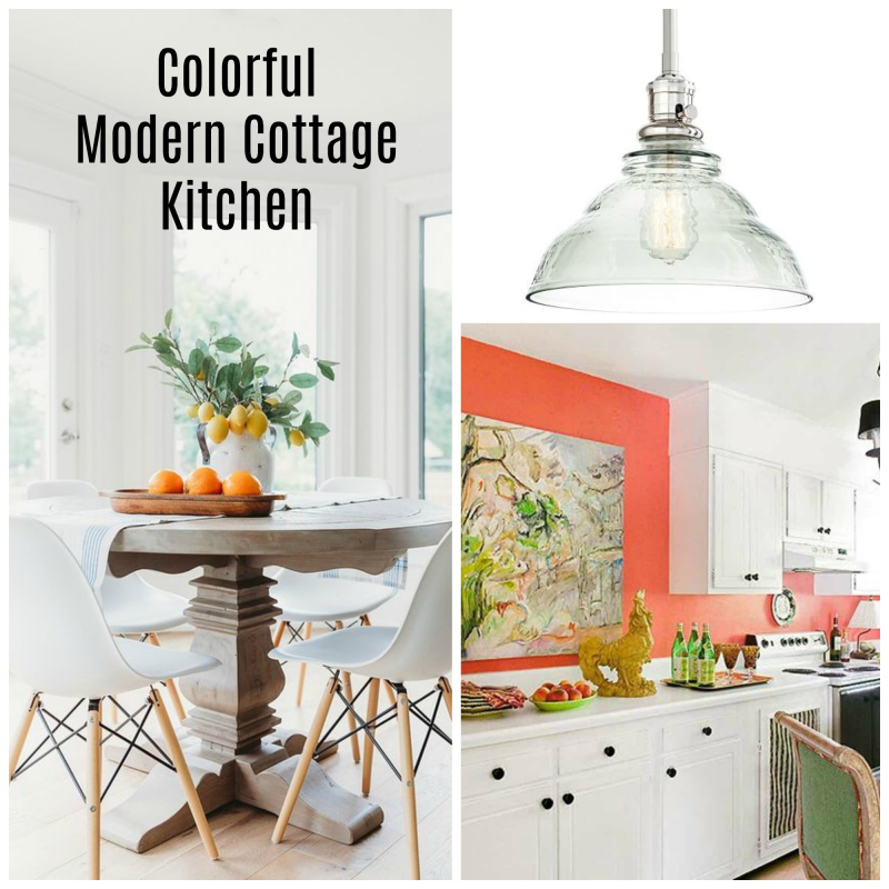 Colorful Modern Cottage Kitchen
