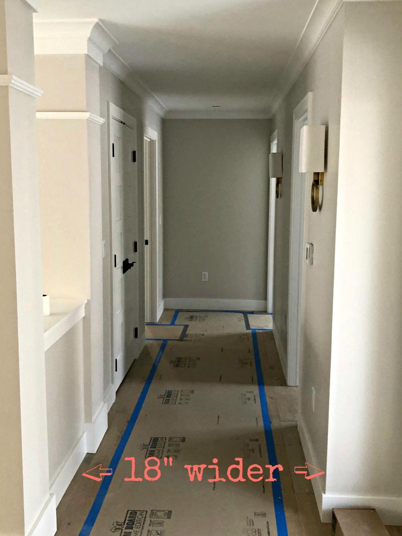 Wider hallway
