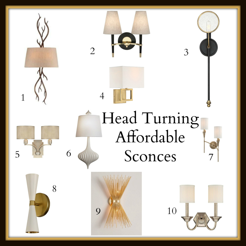 Bedroom sconces collage