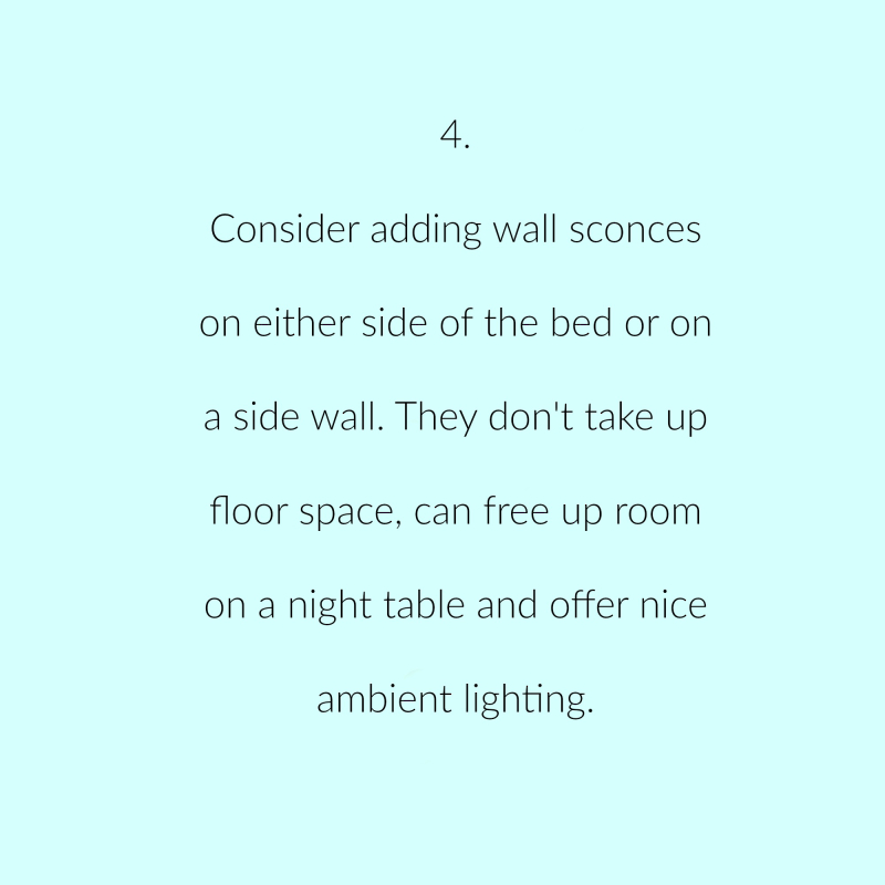 Bedroom lighting suggestion 4