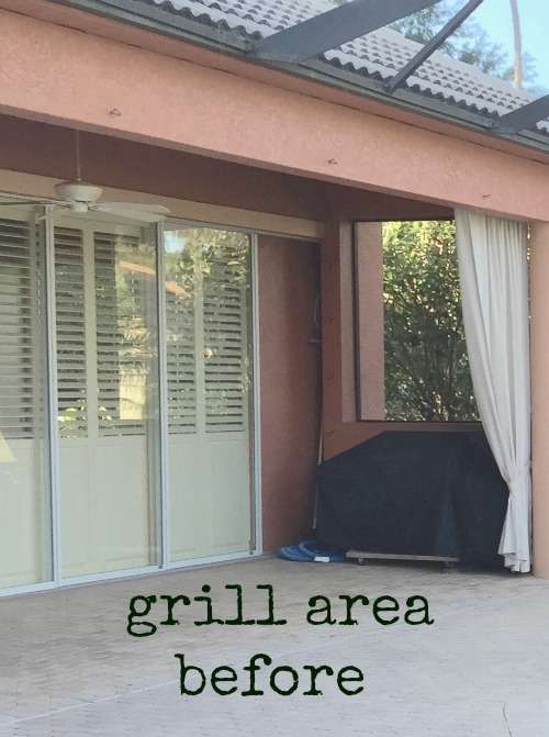 Grill area before edit
