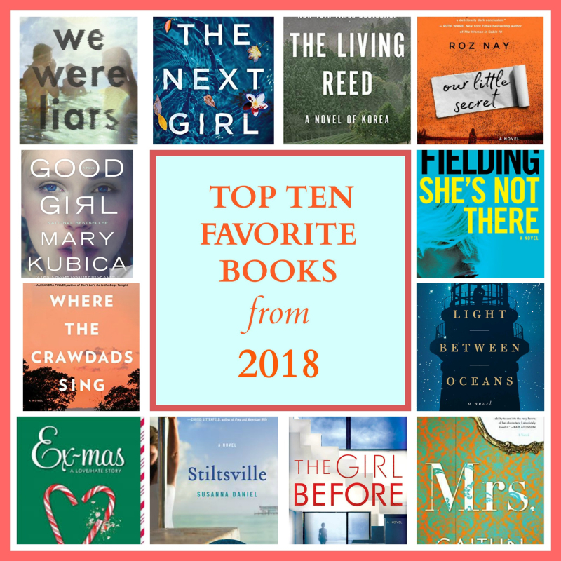 Top ten books 2018 collage