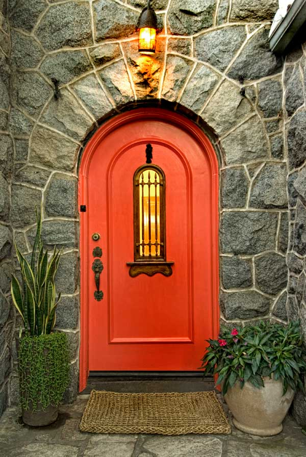 Orange mediterranean door