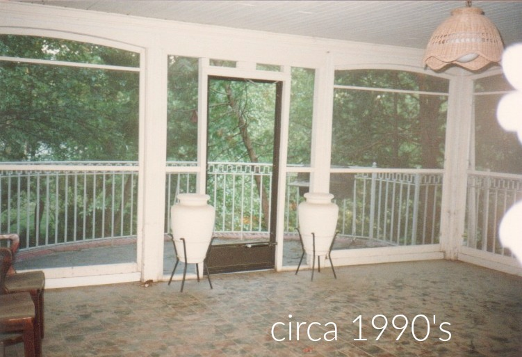 Family room as screened porch