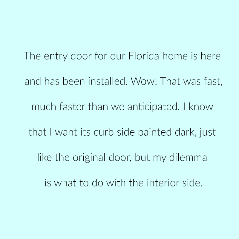 New Florida door p1