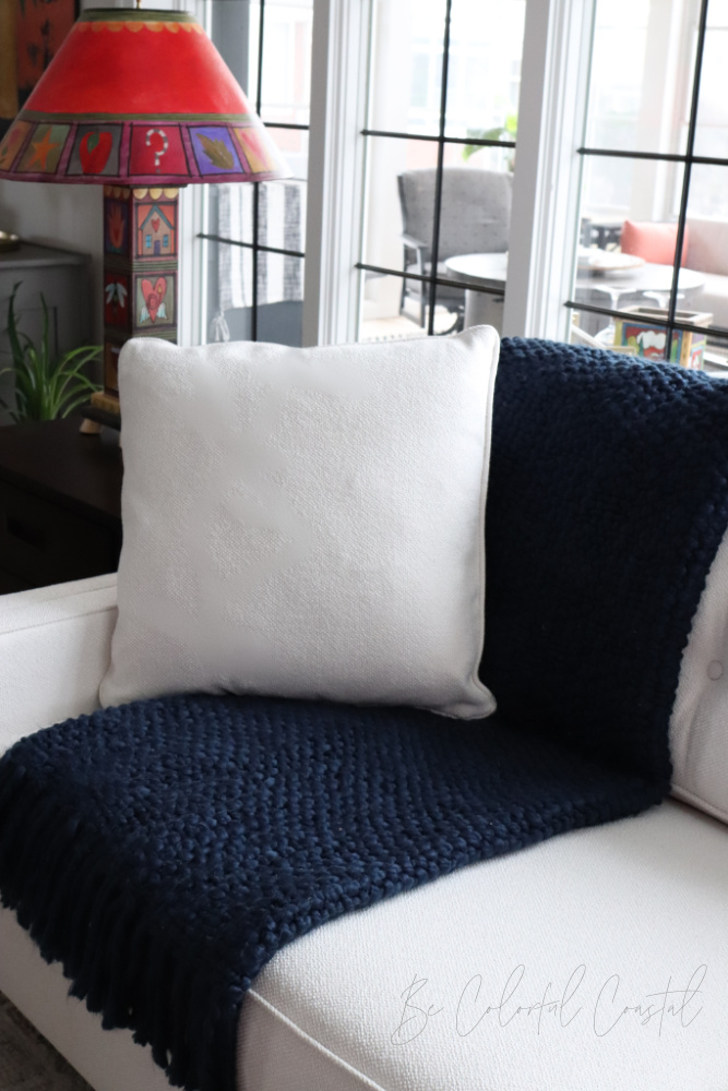 Great room reveal sofa throw