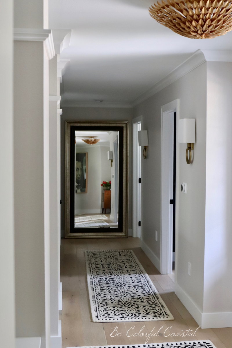 View of hallway toward mirror