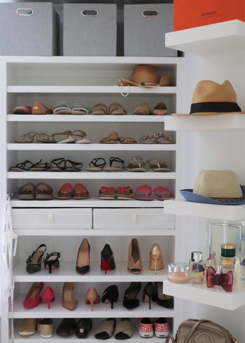 Favorite organization hacks shoes and hats