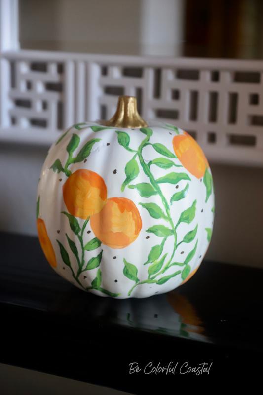 Florida Pumpkin with oranges
